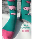 LITTLE PIG GREEN PINK