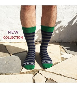 LE MR.Fleming STRIPE Green SOCK